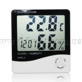 Термометр-гигрометр-часы HTC-1