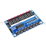 Плата расширения с индикаторами и кнопками на TM1638