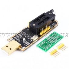Программатор CH341A для EEPROM и FLASH микросхем 24, 25 серий