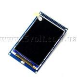 Дисплей 3.5 480х320 драйвер ILI9486 16бит сенсор XPT2046 Arduino MEGA