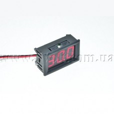 Панельный вольтметр DC 2.5-30.0V 3 цифры красный 0.56
