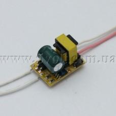 Драйвер светодиодов 80-265V 1-3x1W 300mA без корпуса