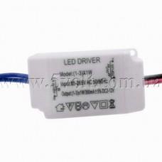 Драйвер светодиодов 80-265V 1-3x1W 300mA в корпусе