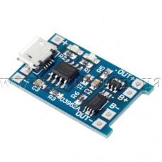 Модуль заряда Li-ion аккумуляторов на TP4056 с защитой