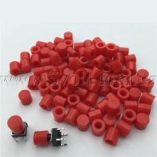 Колпачок для кнопки тактовой 6мм красный G61