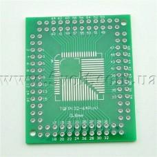 Макетная плата для микроконтроллеров 32 44 64 80 100 ножек