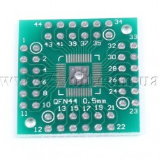 Макетная плата-переходник QFN48 QFP44 на DIP48